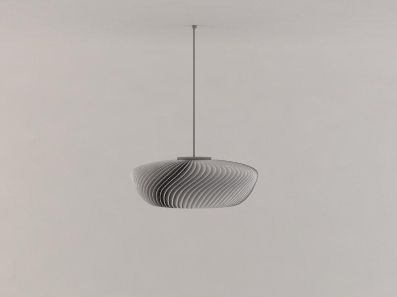 3d model modern design lamp