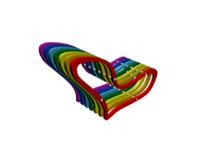 3d model of chair rainbow