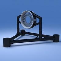 3d model tidal turbine
