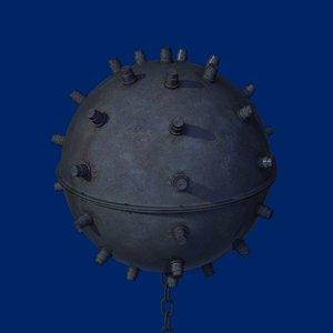 moored bomb 3d max