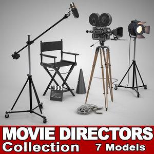 3d filming director movie camera