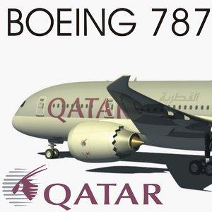 obj 787 boeing qatar