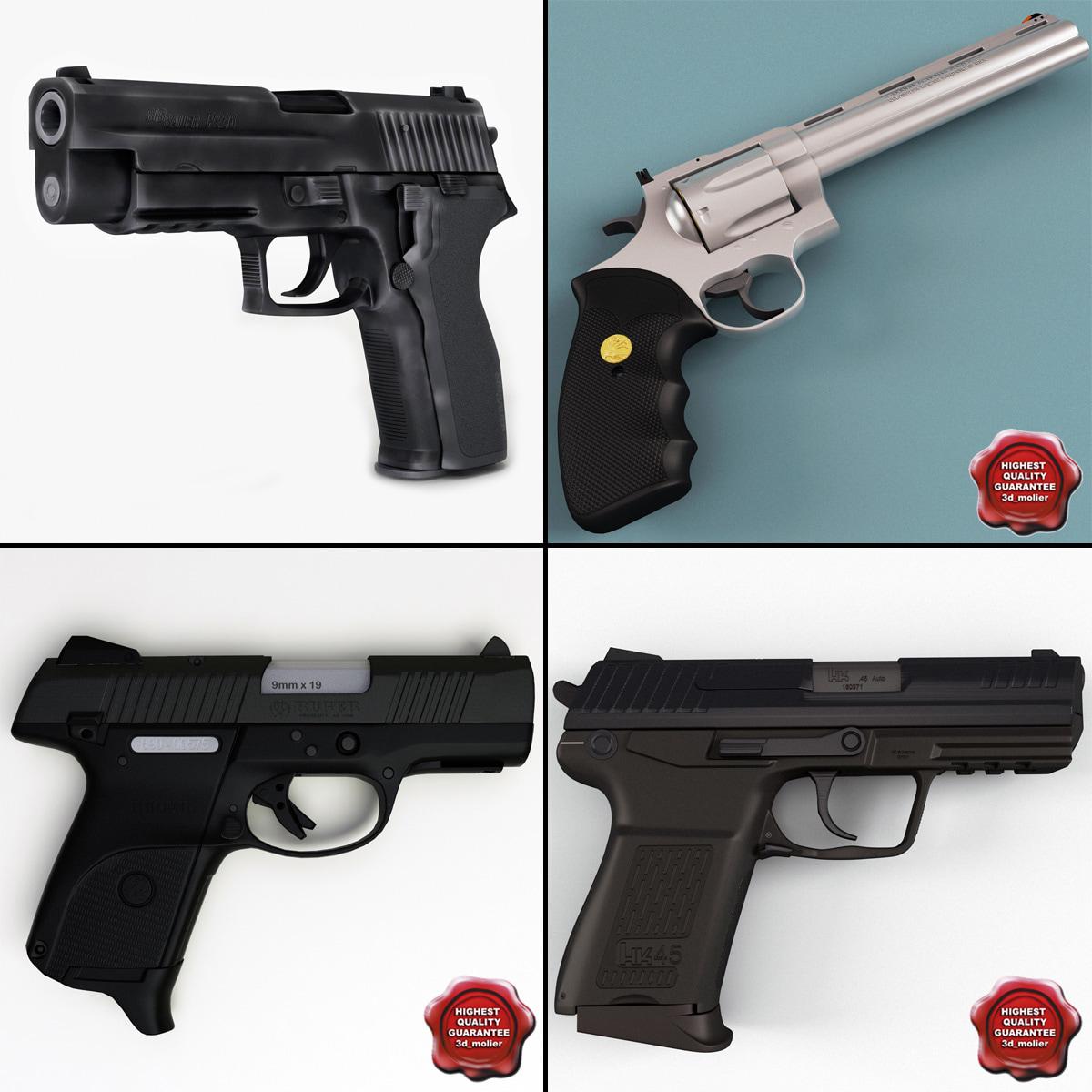 pistols v3 3d model