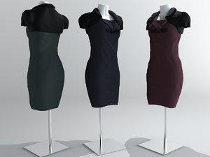 3d dress dummy model