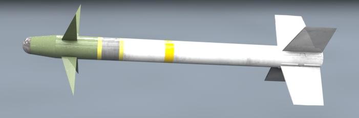 free aim-9m missile 3d model