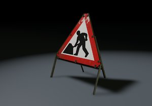 road men work 3d model