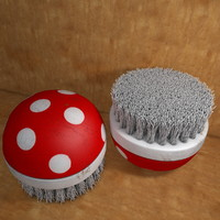 Old rotten scratched Scrubber Brush
