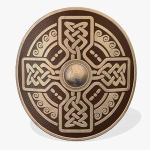 decorative celtic shield 3d model