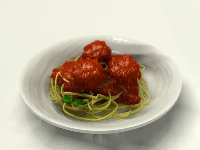 3d spaghetti model