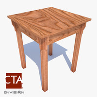 3d simple end table model