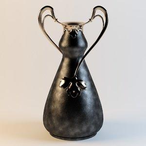 art nouveau vase obj