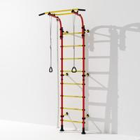 Gym wall bars