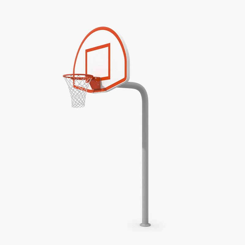 3d model outdoor basketball hoop