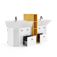 double bathroom sink 3d obj