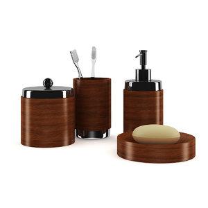 wooden bathroom fixtures 3d model