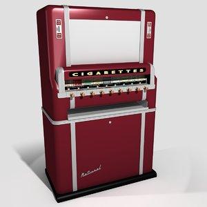 3d classic cigarette vending machine model