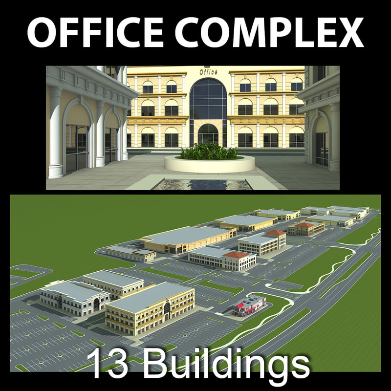 3d office complex model