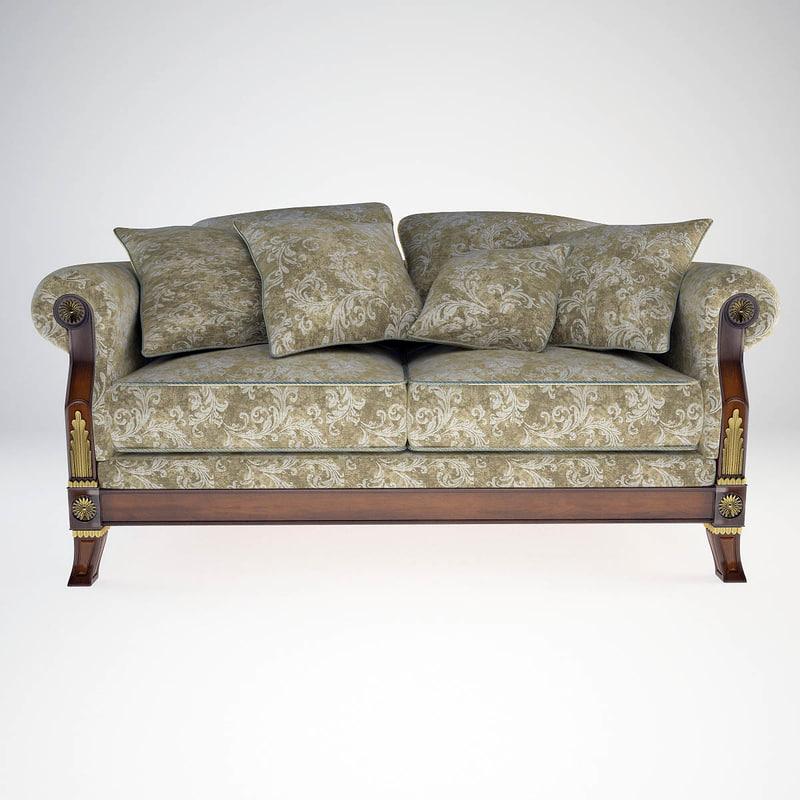 sofa 2 seat angelo cappellini 3d max