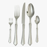 fork knife spoon 3d model
