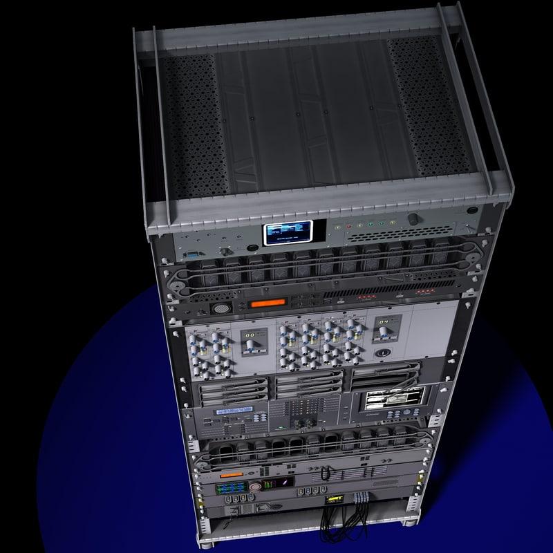 rack electronics 3d model