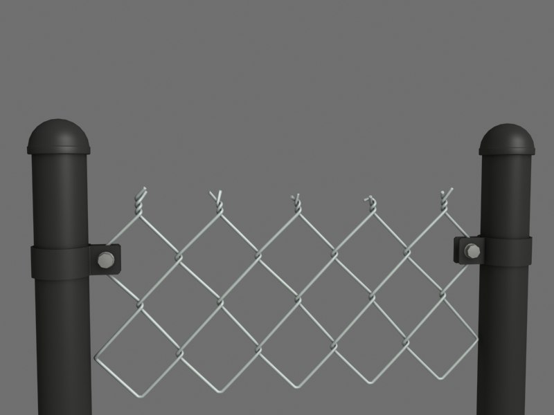 3ds fence chain link
