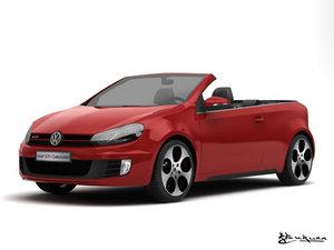 volkswagen golf gti cabriolet 3d model