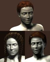 polygonal haircuts mannequin hair 3d max