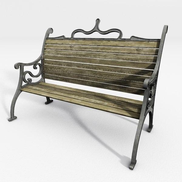 3d iron garden chair