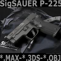 sig sauer p225 3d model