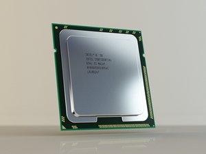 intel i7 cpu 3d model