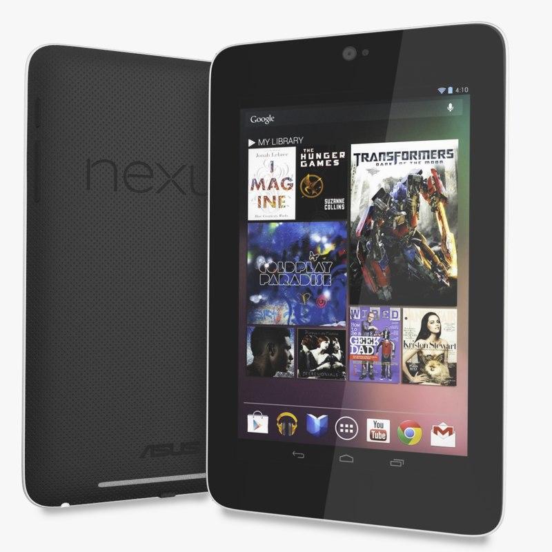 3d model of google nexus 7