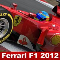 ferrari f1 2012 3d model