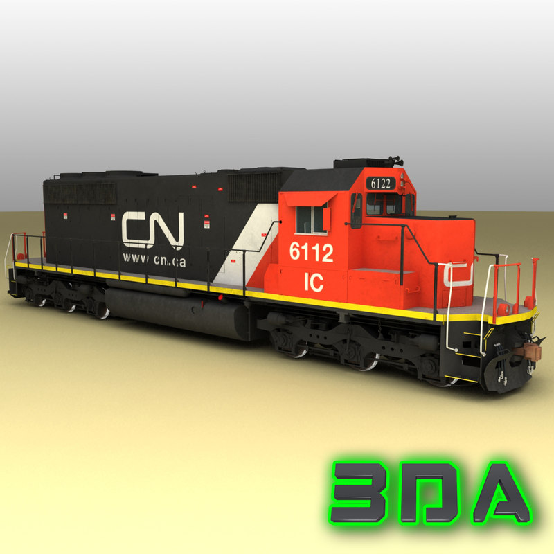 3d emd sd40-2 engines cn