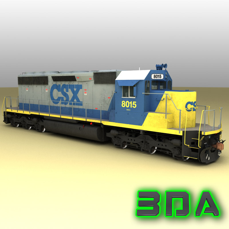 3ds max emd sd40-2 engines csx