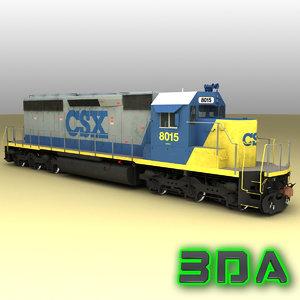 3ds max emd sd40-2 engines csx