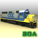 Locomotive EMD GP40-2 CSX