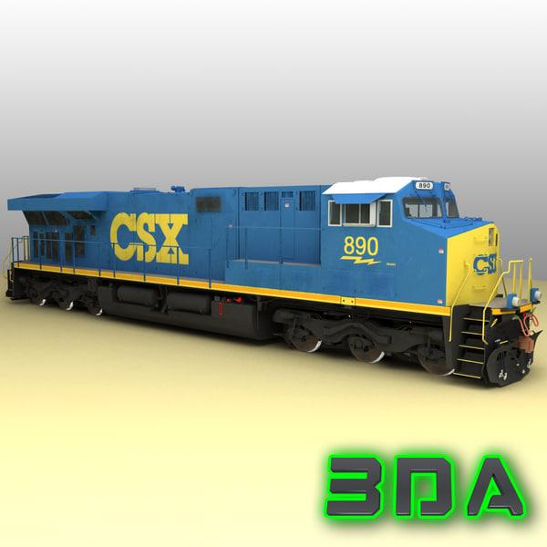 3d ge es44ac locomotive engines