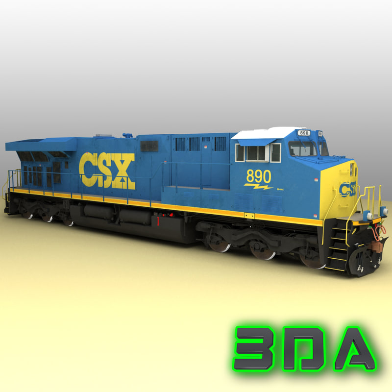 3d ge es44ac locomotive engines