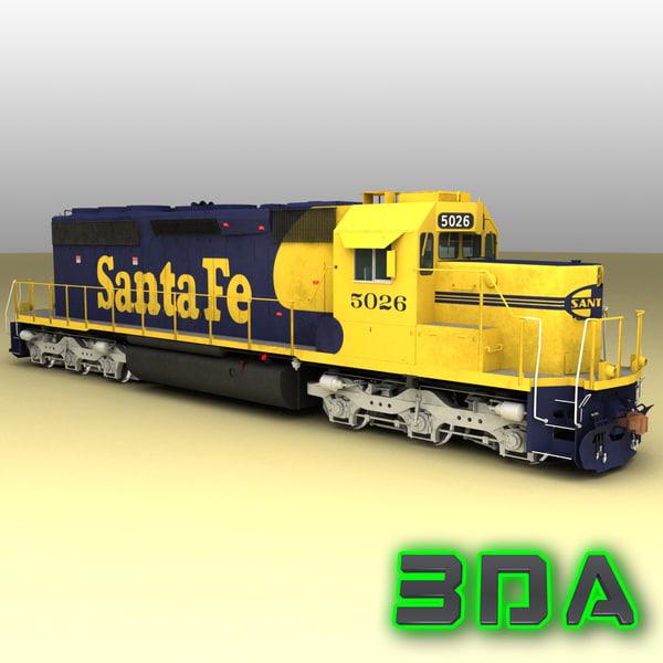 3d emd sd40-2 engines sf