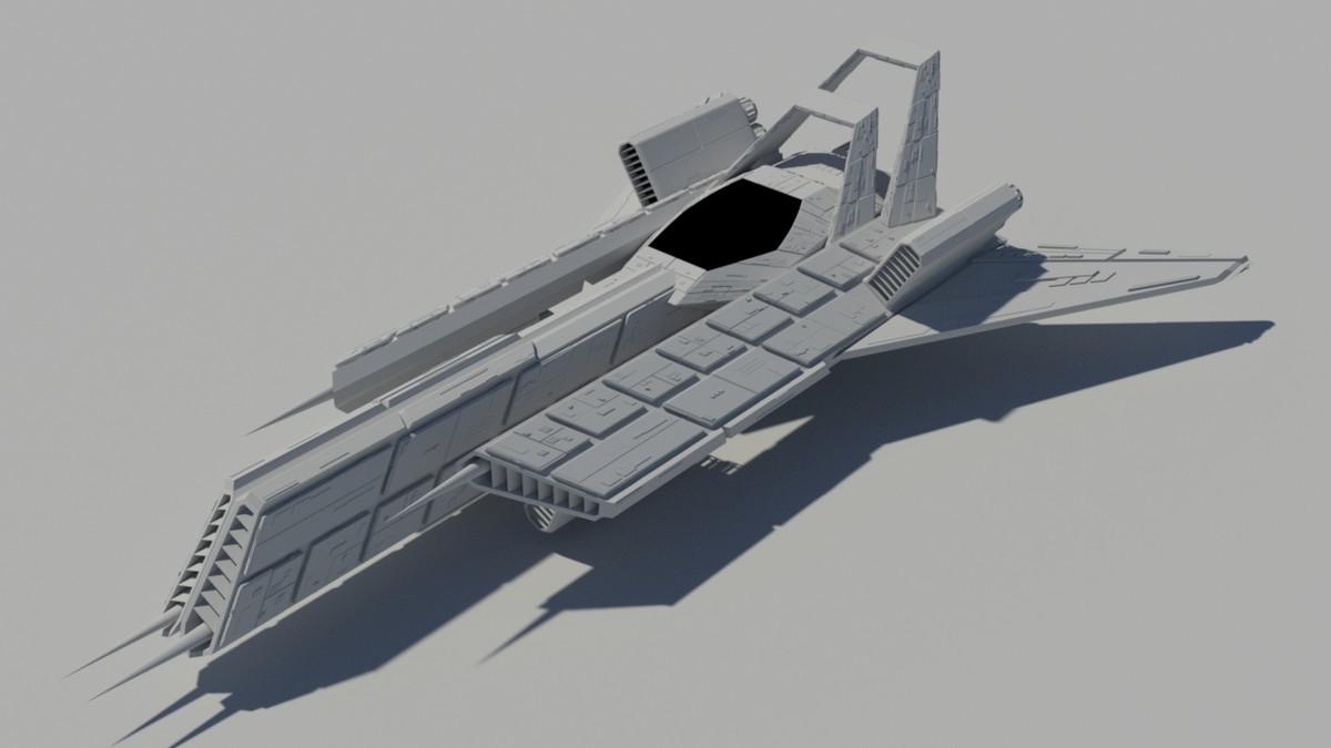 free sci fi race jet 3d model