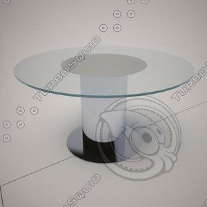 3d 3ds cattelan italia rondo glass table