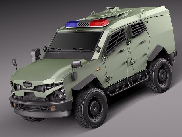 3d oshkosh sand cat vechicle model