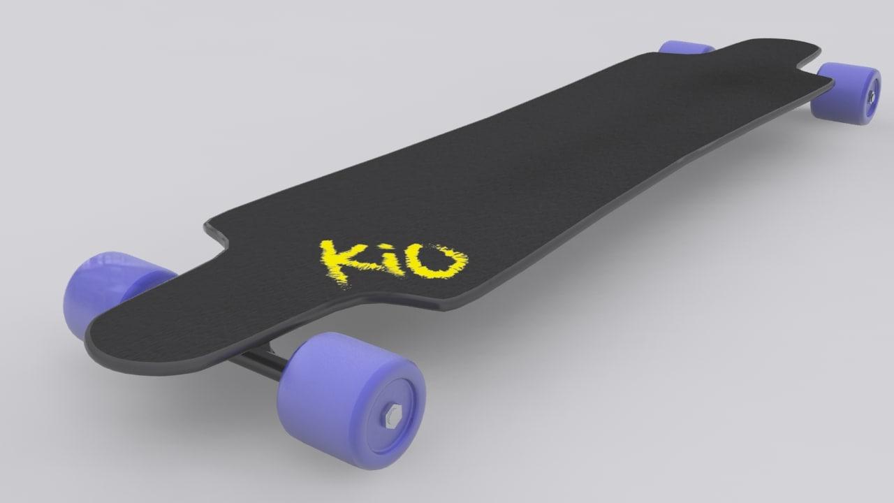 long board 3d model