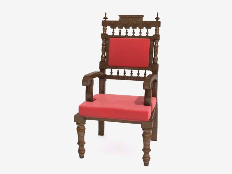 3ds realistic neo-romanian chair