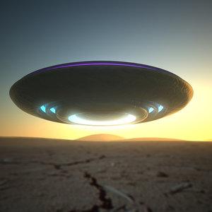 3d ufo alien space