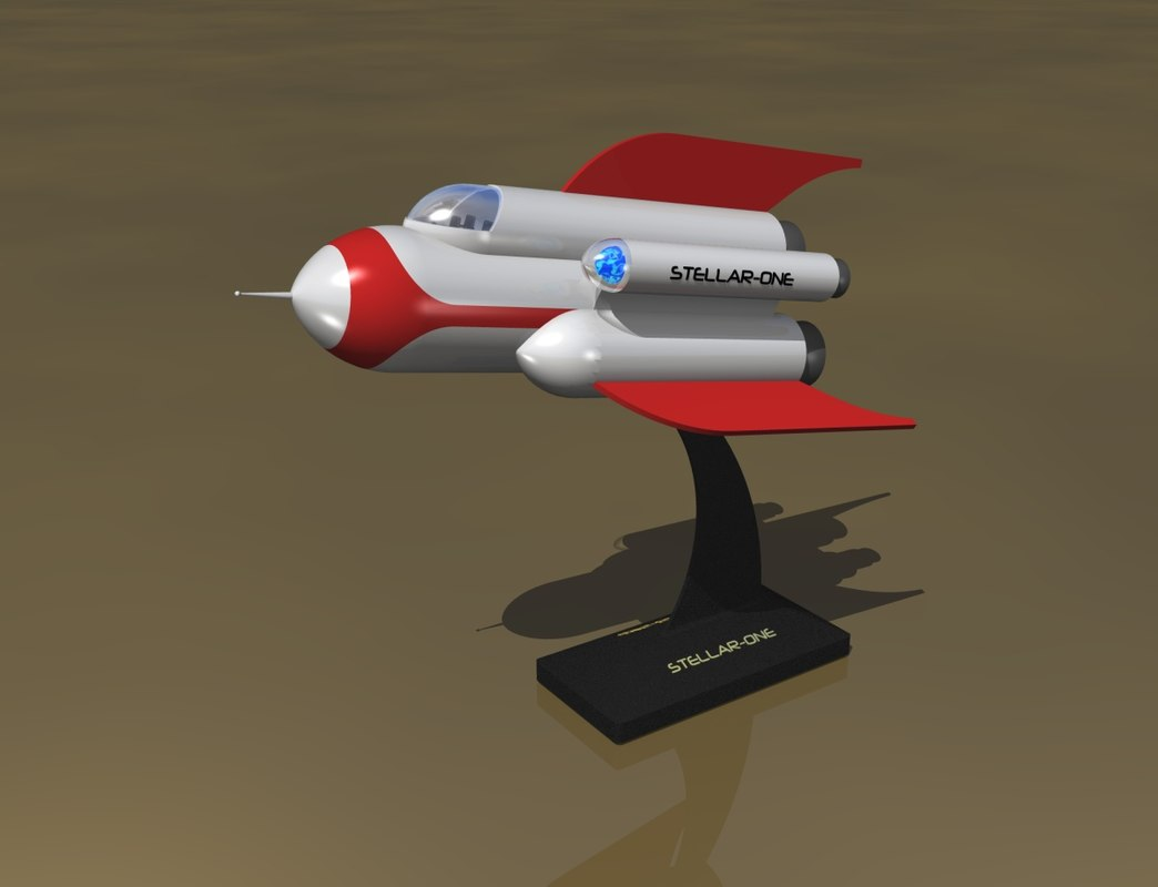 3dsmax space ship style