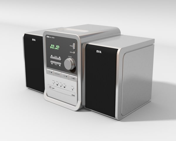 stereo cd player 3d model