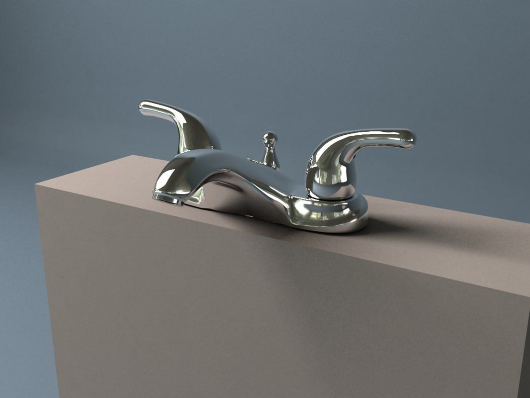 3d bathroom tap