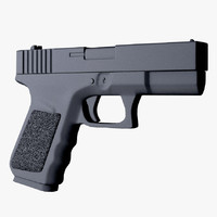 glock pistol obj