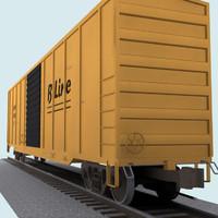 Railroad / Train Car: Boxcar